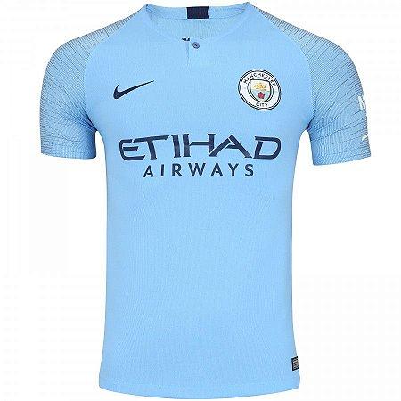 Camisa Manchester City Home 18 19 Nike - Masculina - Manto Sagrado FC ac7b21fa202e6