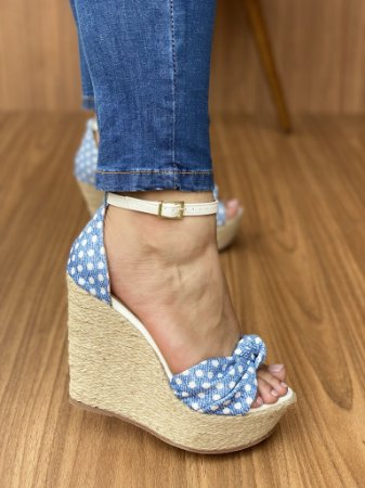 Anabela Jeans Claro