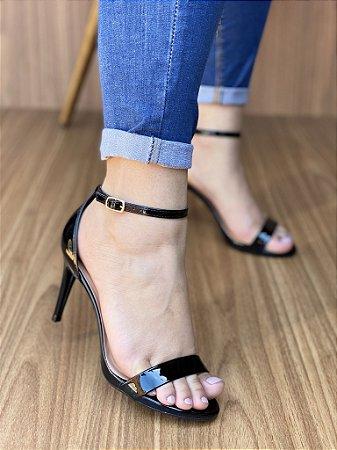 Sandália Salto Fino Preto
