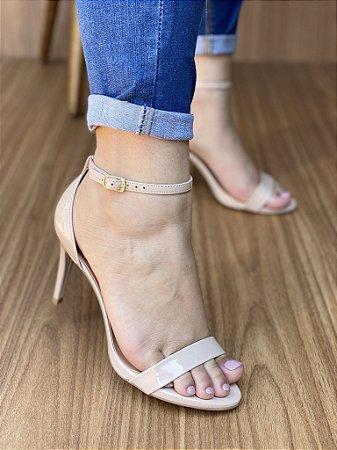 Sandália Salto Fino Nude