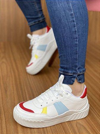 Tênis Branco/Vermelho/Azul S5370
