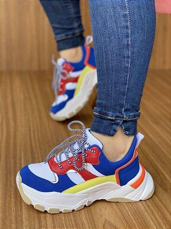Tênis Sneaker Azul/Branco/Royal S5450