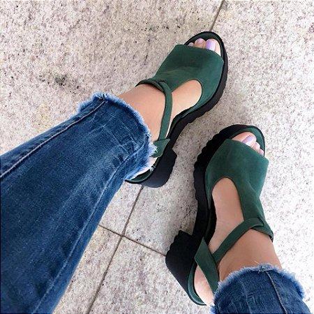 Sandália Meia Pata Tratorada Verde
