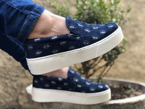 Slip On Jeans Escuro