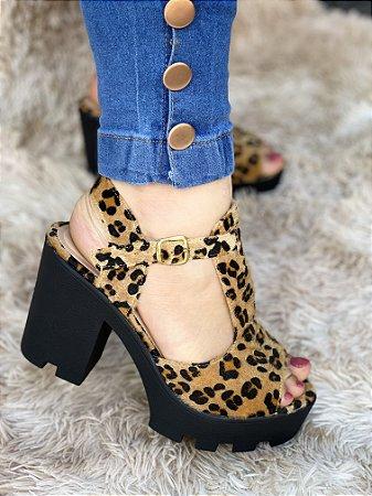 Sandália Tratorada Onça 10cm
