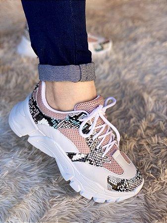 Tênis Sneaker Branco/Cobra