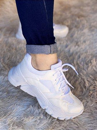 Tênis Sneaker Todo Branco