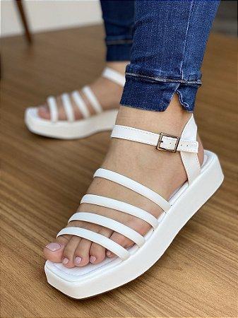 Sandália Tiras Branca
