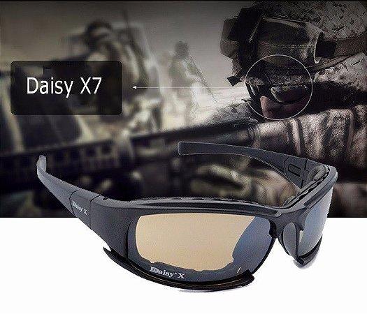 44067f589162f Óculos Daisy X7 Militar Tático Tiro Prático Airsoft Uv400 - Compre   Cia