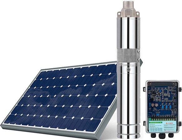 Kit Bomba Solar ZM 120w 24 a 50v entrada painel solar e bateria altura máx 55 metros + kit acessórios 760 litros hora com painel 330w