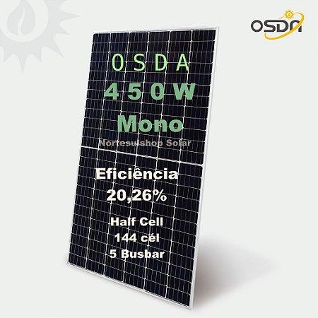 Módulo / painel / placa Solar Fotovoltaica OSDA 450w Monocristalino Half Cell 20,26% eficiência