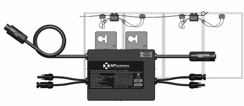 Micro Inversor On Grid Tie Apsystems Yc500a 220v