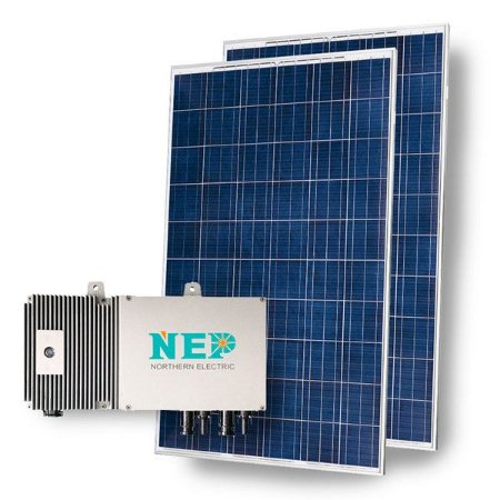 Kit 2 Painel Solar 330w + 1 Micro Inversor 220v NEP Ongrid