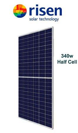 Módulo / painel / placa Solar Fotovoltaica 340w RISEN Policristalino Half Cell RSM144-6