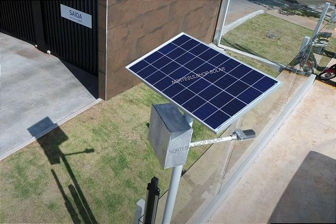 Poste Energia Solar Led 15W Painel 55W controlador carga 10A poste Alumínio PROMOÇÃO