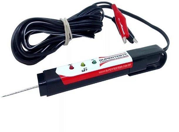 CANETA TESTE POLARIDADE C/LED 12/24V ST-CAN 01 KOMBAT SUPERTESTE