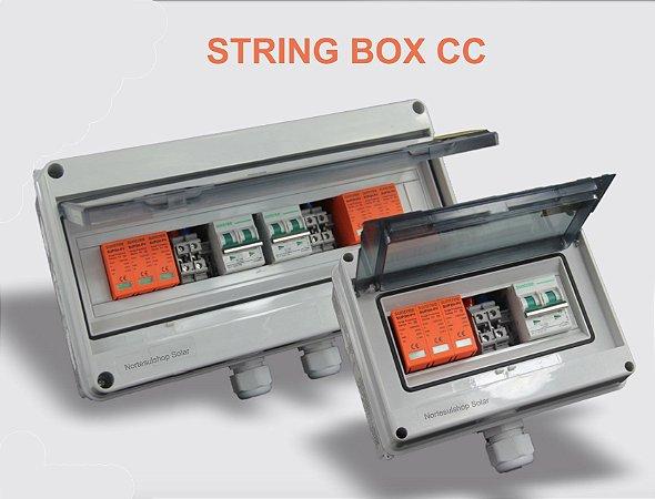 Kit String Box CC 2:2 proteção CC Solar Suntree + String box CA 275V 20ka Clamper