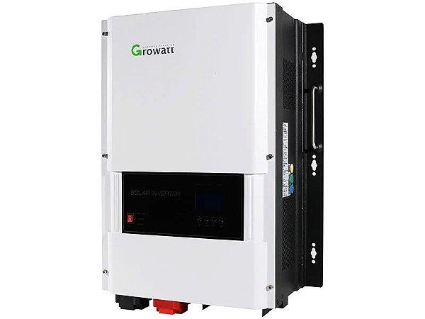 Inversor Offgrid Growatt 8000w 8k Entrada 48V Saída 220V Senoidal SPF SPF 8KTHVM CARREGADOR 7KW Controlador MPPT