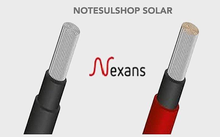 PAR Cabo fotovoltaico Solar 6mm - NEXANS - Cobertura resistente (200 METROS) sendo 100m cada cor