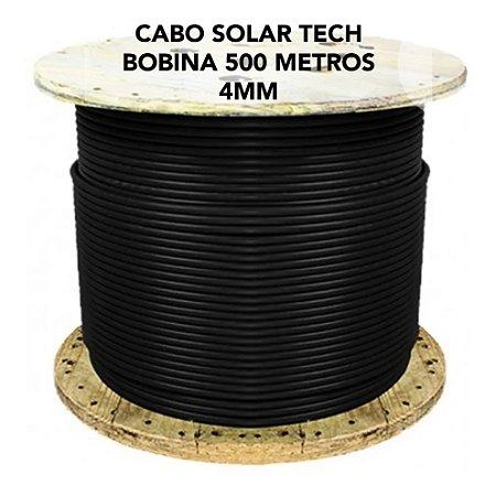 Cabo fotovoltaico Solar 4mm - CONDUTEC - PRETO - Bobina 500 metros