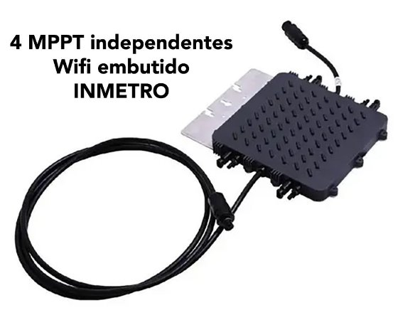 Micro Inversor Deye 1300w 4MPPT 220v + Wifi Monitoramento + 10 Anos Garantia