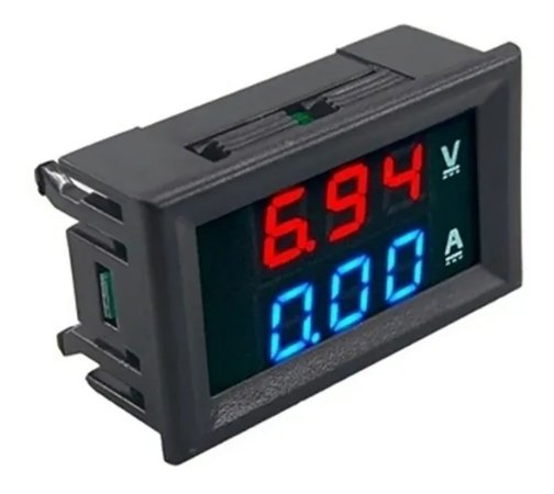 Voltímetro e Amperímetro Digital 10A de 0-100 V