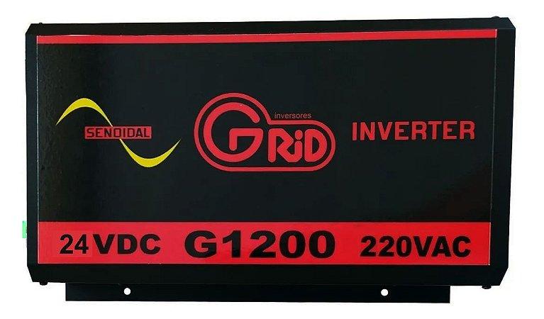 Inversor 1200w / 2400w 24v 220v Onda Senoidal Pura Grid 100% Nacional