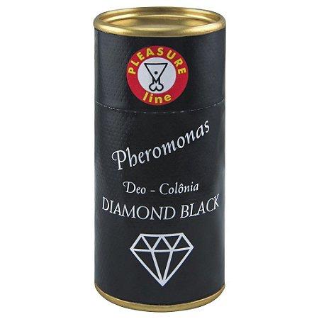 COLÔNIA MASCULINA PHEROMONAS  20ML DIAMOND BLACKP LEASURE LINE