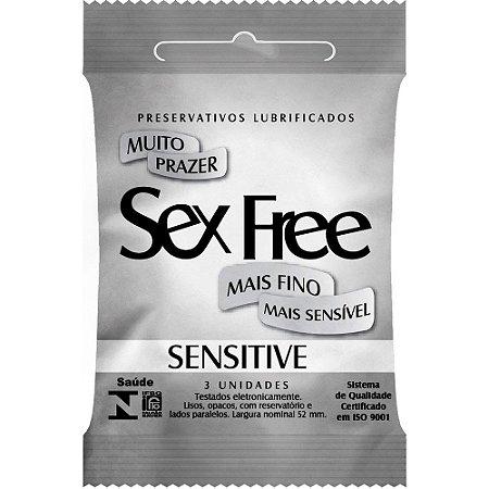 PRESERVATIVO  SENSITIVE SEX FREE 3UNIDADES