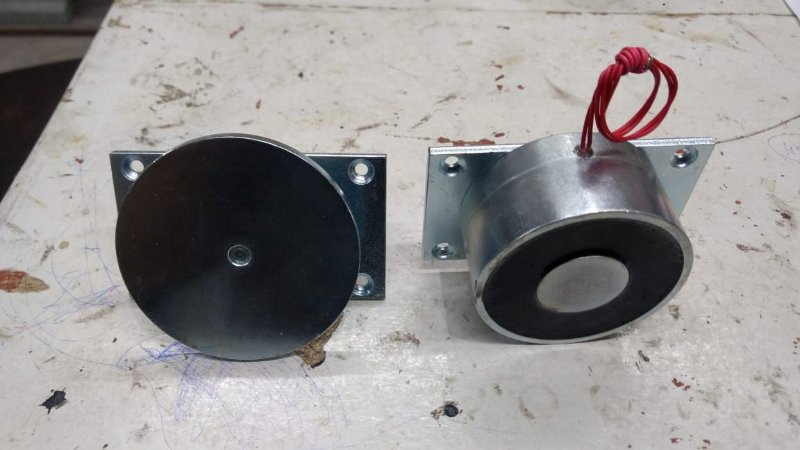 Eletroímã para porta corta fogo industrial 12v, 24v, 110v e 220v