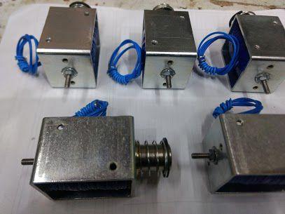 Solenoide Para Damper Corta Fogo 12v, 24v, 110v e 220v - curso até 15mm