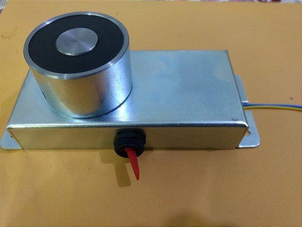 Eletroímã Para Porta Corta Fogo 12vdc Com Botão Liga/desliga