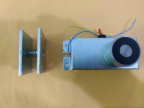 Eletroímã Para Porta Corta Fogo 220vca Com Botão Liga/desliga