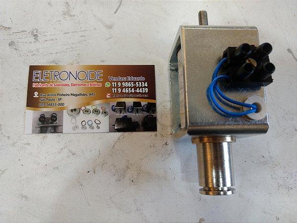 Solenoide para damper corta fogo 12v, 24v, 110v E 220v - Curso Até 20mm