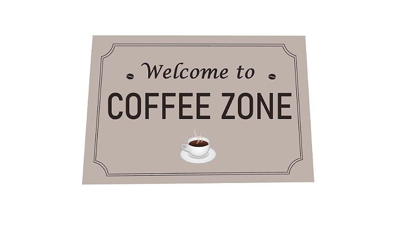Tapete Capacho Decorativo Para Entrada 40x60 Coffee Zone
