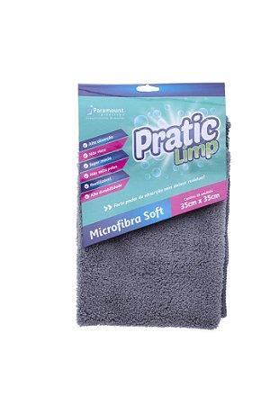 Pano de Limpeza Microfibra Absorvente 35x35 Paramount