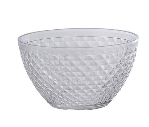 Tigela Bowl Plástico 800 ML Transparente Luxxor Paramount