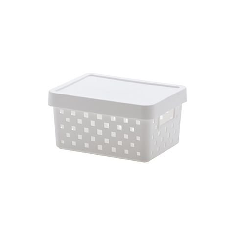 Cesto Caixa Organizadora C/ Tampa 19x14x10 Quadratta Branco