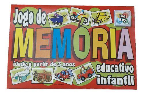 Jogo de Memória Educativo Infantil 1131 Big Boy