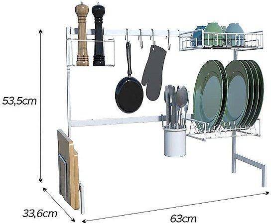 Cozinha Suspensa Modular Autossustentável 63Cm Branco 14 Peças DiCarlo