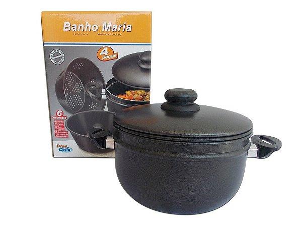 """Banho Maria para Fogão para """"CUSCUZ E PUDIM"""" em Alumínio com Antiaderente Dona Chefa"""