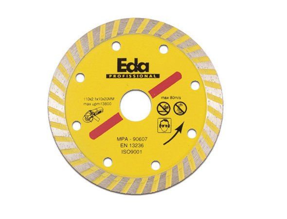 "Disco Diamantado Turbo ""Profissional"" 110MM 8QZ EDA"