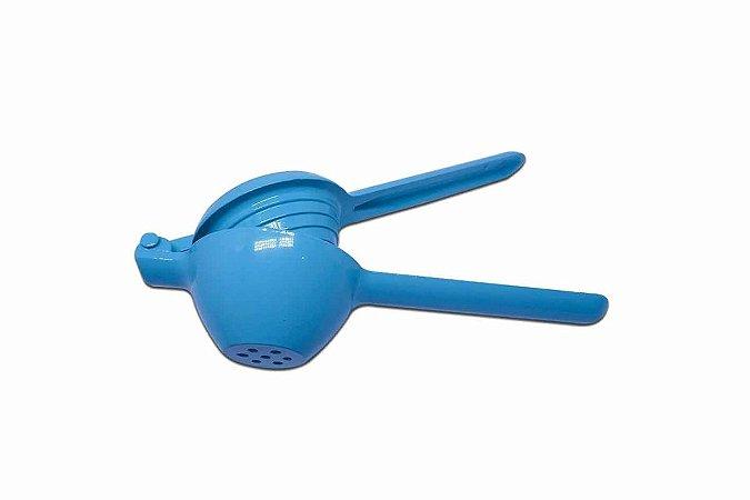 Espremedor De Limão Colors Azul Para Cozinha Em Alumínio