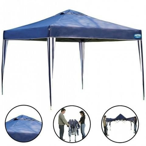 Gazebo X-Flex Oxford com Silvercoating Azul 3m x 3m