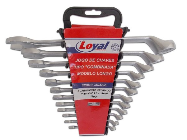 JG Chave Combinada CRV 12PÇS 6-22MM Loyal
