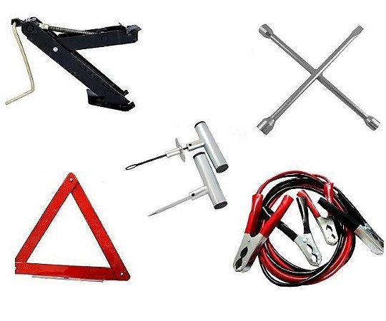 Kit Emergência Segurança Para Carros - Com 5 Itens + Brinde