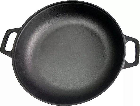 Paella Ferro Fundido Tacho Frigideira Paellera Peixada 37cm