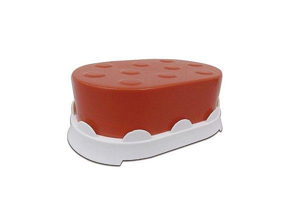 Saboneteira para uso Diário de Plástico Vermelha