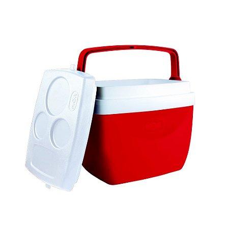Caixa Térmica 12 Litros Vermelha MOR