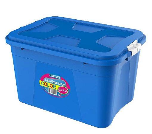 Caixa Organizadora Verona Azul 56 Litros c/ Trava PP Uninjet